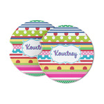 Ribbons Sandstone Car Coasters (Personalized)