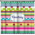 Ribbons Shower Curtain (Personalized)