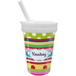 Ribbons Sippy Cup with Straw (Personalized)