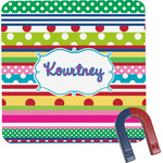 Ribbons Square Fridge Magnet (Personalized)
