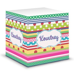 Ribbons Sticky Note Cube (Personalized)
