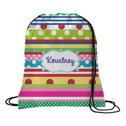 Ribbons Drawstring Backpack (Personalized)
