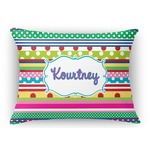 Ribbons Rectangular Throw Pillow (Personalized)