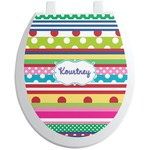 Ribbons Toilet Seat Decal (Personalized)
