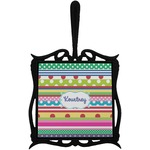 Ribbons Trivet with Handle (Personalized)