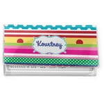 Ribbons Vinyl Checkbook Cover (Personalized)