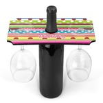 Ribbons Wine Bottle & Glass Holder (Personalized)