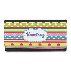 Ribbons Leatherette Ladies Wallet (Personalized)