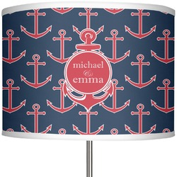 "All Anchors 13"" Drum Lamp Shade Polyester (Personalized)"