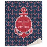 All Anchors Sherpa Throw Blanket (Personalized)