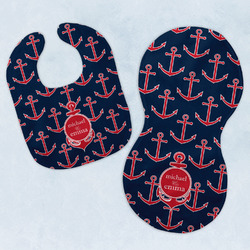 All Anchors Baby Bib & Burp Set w/ Couple's Names