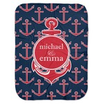 All Anchors Baby Swaddling Blanket (Personalized)