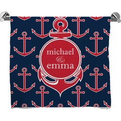 All Anchors Full Print Bath Towel (Personalized)