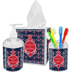 All Anchors Bathroom Accessories Set (Personalized)