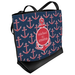 All Anchors Beach Tote Bag (Personalized)