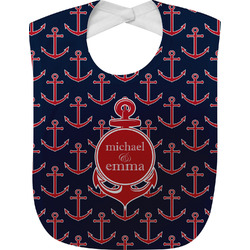 All Anchors Baby Bib (Personalized)