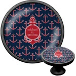 All Anchors Cabinet Knob (Black) (Personalized)