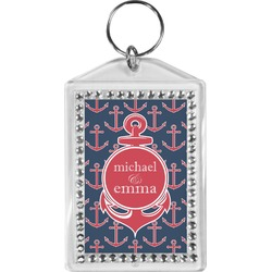 All Anchors Bling Keychain (Personalized)