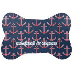 All Anchors Bone Shaped Dog Food Mat (Personalized)