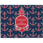 All Anchors Woven Fabric Placemat - Twill w/ Couple's Names