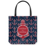 All Anchors Canvas Tote Bag (Personalized)