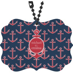 All Anchors Rear View Mirror Decor (Personalized)