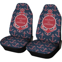 All Anchors Car Seat Covers (Set of Two) (Personalized)