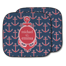 All Anchors Car Sun Shade - Two Piece (Personalized)