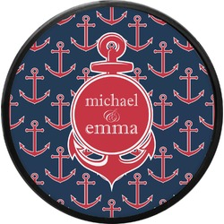 All Anchors Round Trailer Hitch Cover (Personalized)