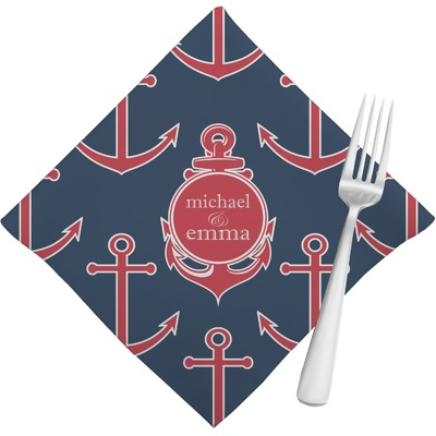 All Anchors Cloth Napkins (Set of 4) (Personalized)