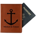 All Anchors Leatherette Passport Holder (Personalized)