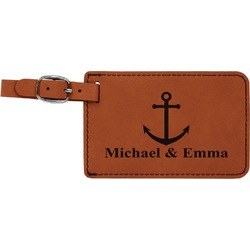 All Anchors Leatherette Luggage Tag (Personalized)