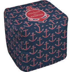 All Anchors Cube Pouf Ottoman (Personalized)