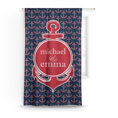 "All Anchors Curtain - 50""x84"" Panel (Personalized)"