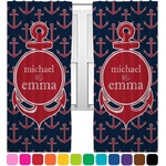 All Anchors Curtains (2 Panels Per Set) (Personalized)