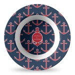 All Anchors Plastic Bowl - Microwave Safe - Composite Polymer (Personalized)
