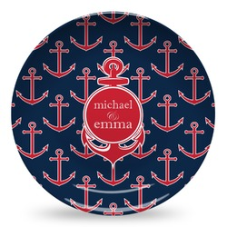 All Anchors Microwave Safe Plastic Plate - Composite Polymer (Personalized)