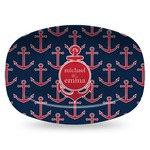 All Anchors Plastic Platter - Microwave & Oven Safe Composite Polymer (Personalized)