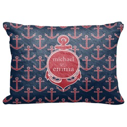 "All Anchors Decorative Baby Pillowcase - 16""x12"" (Personalized)"