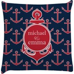 All Anchors Decorative Pillow Case (Personalized)