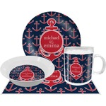 All Anchors Dinner Set - 4 Pc (Personalized)