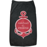 All Anchors Black Pet Shirt (Personalized)
