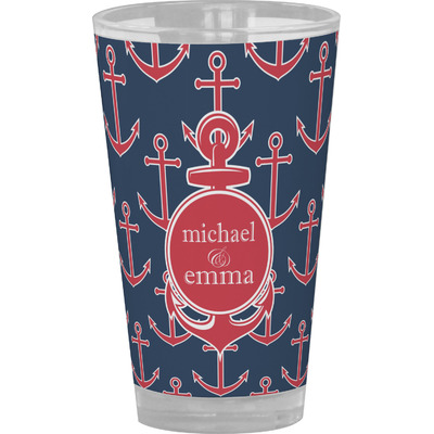 All Anchors Drinking / Pint Glass (Personalized)