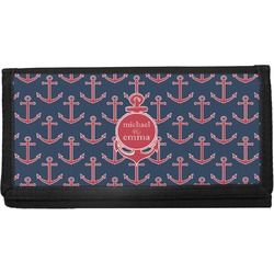 All Anchors Canvas Checkbook Cover (Personalized)