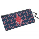 All Anchors Genuine Leather Eyeglass Case (Personalized)