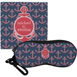 All Anchors Eyeglass Case & Cloth (Personalized)