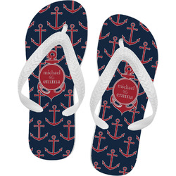 All Anchors Flip Flops (Personalized)