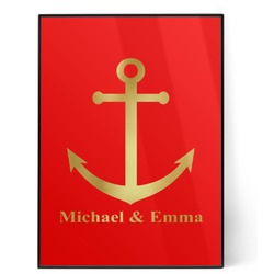 All Anchors 5x7 Red Foil Print (Personalized)