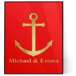 All Anchors 8x10 Foil Wall Art - Red (Personalized)