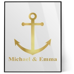 All Anchors 8x10 Foil Wall Art - White (Personalized)